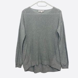 Two By Vince Camuto Gray Knit Long Sleeve